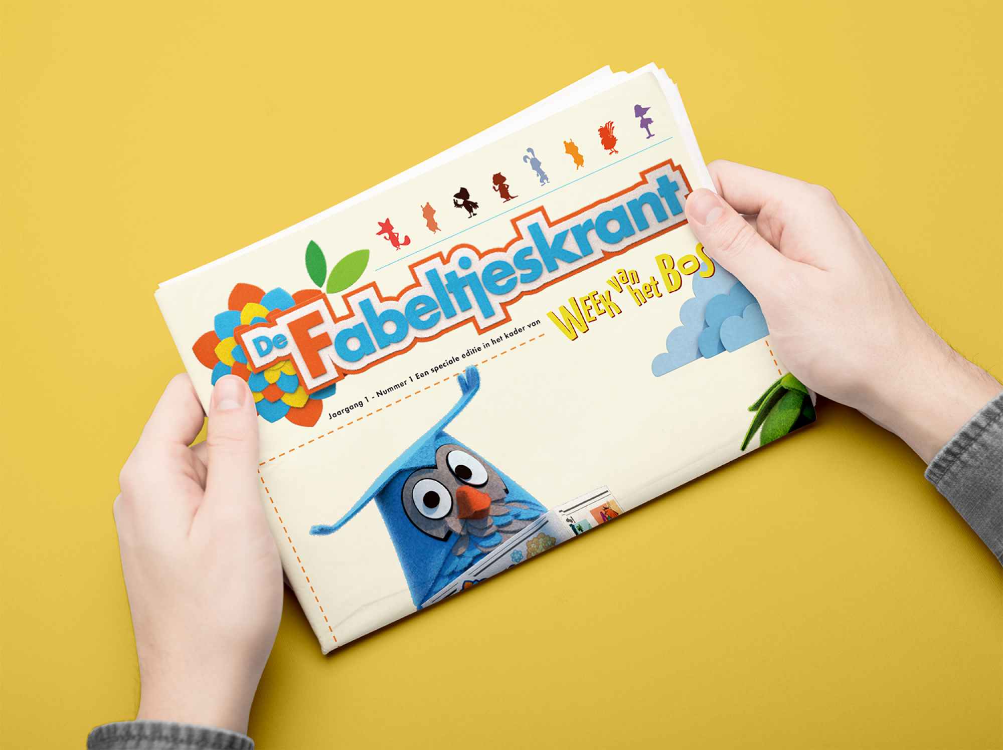 Fabeltjeskrant Week van het bos illustration educational package gent