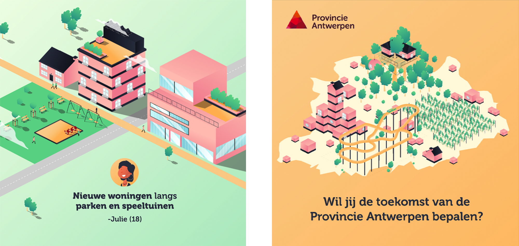 stedenbouw explainer video antwerpen 2D animation graphics design isometric